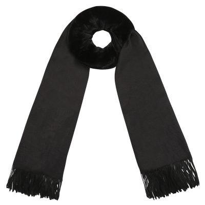 Sjaal Soft Bont zwart zwarte zachte warme dames sjaal wollen deel kopen winter acces