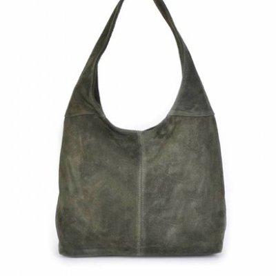 Suede-Tas-Mille-groen groene tassen-suede-goedkope-dames-tassen-leer-suede-leder-kopen bestellen
