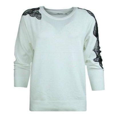 Trui-Filine-Lace-wit-witte-dames-truien-met-zwart-kant-op-de-mouwen-winter-kleding-sweaters-fashion-online-400x512