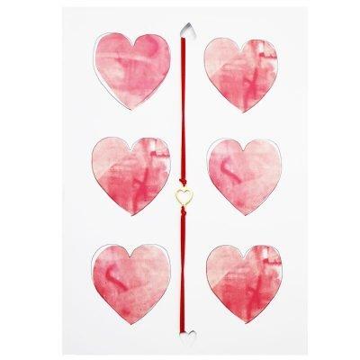 Wenskaart en Armband Hearts hartjes valentijns kaarten teskst en armband met hartje unieke cadeau