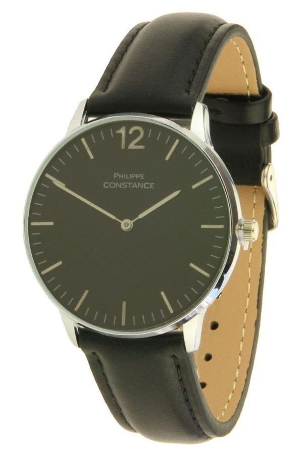 horloge-philippe-leder-zwart-zwarte-leren-horlogeband-zilveren-zwarte-kast-musthave-horloges-online-kopen-bestellen-philippe-constance-horloges