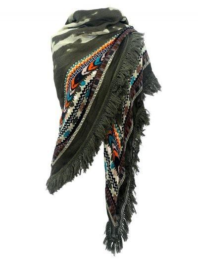 Scarf Winter Aztek groen groene vierkante boho sjaals omslagdoeken dames print online kopen nuScarf Winter Aztek groen groene vierkante boho sjaals omslagdoeken dames print online kopen nu