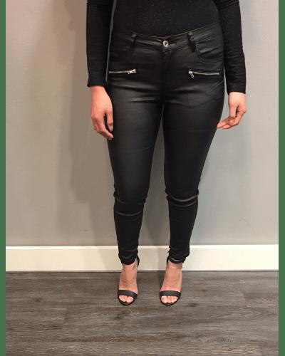 Zwarte Broek Queens imitatie leren broek skai broek online bestellen sexy dames broeken online kopen]