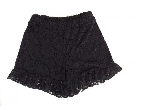 Korte Kanten Broek zwart zwarte lace pants shorts hotpants korte broeken zomerbroek online dames zomerkleding online kopen achter