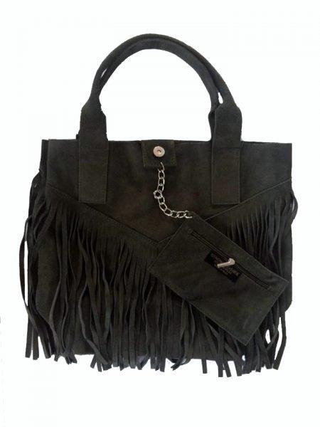 Suede-tas-Fringe-Me groen groene -suede- leren tassen met franjes fringe leather bags musthave-tas-shopper-fashion-bags-franjes