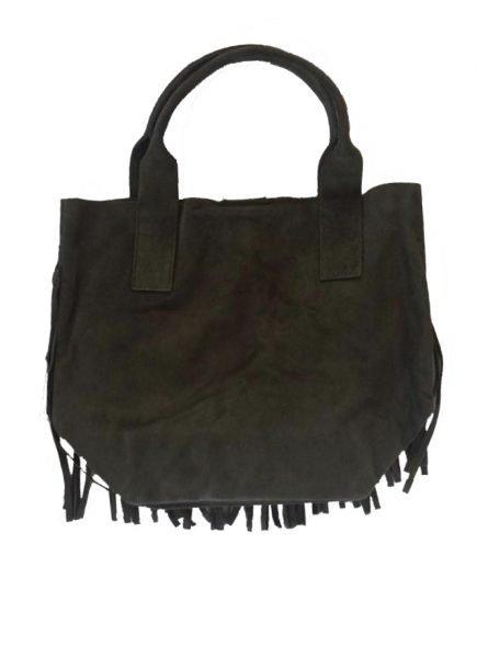 Suede-tas-Fringe-Me groen groene -suede- leren tassen met franjes fringe leather bags musthave-tas-shopper-fashion-bags-franjes achterkant
