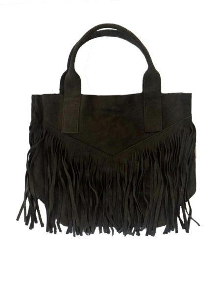 Suede-tas-Fringe-Me groen groene -suede- leren tassen met franjes fringe leather bags musthave-tas-shopper-fashion-bags-franjes online tassen kopen