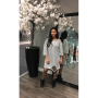 Jurk Sammy Grijs grijze half lange jurken sweaterdress dames kleding musthaves online bestellen