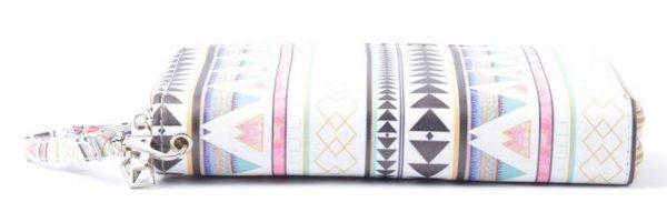 Portemonnee Aztec wit witte Portemonnee met aztec print pastelkleuren dames Portemonnees wallet online kopen nu
