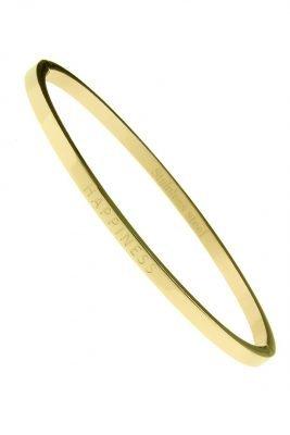 RVS Armband Happiness goud gouden rvs armbanden met happiness tekst valentijn cadeau stainless steel