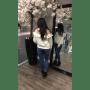 Trui Tiffany lace wit witte trui met kanten schouders hippe trui vollant en kant dames truien online achterkant