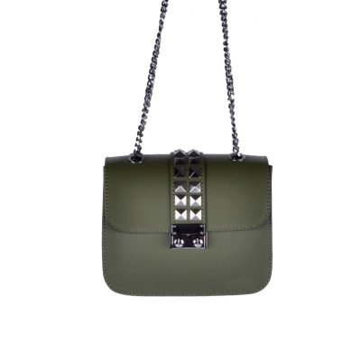 leren-tas-studs-chains groen groene-zilveren-ketting-musthave-tassen-online-bestellen-kopen-Giuliano-318x400