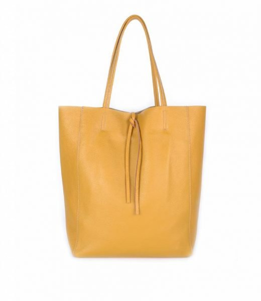 Leren-Shopper-Simple-geel gele-ruime-dames-shopper-zacht-leer-online-luxe-dames-tassen-italie-bestellen-557x600