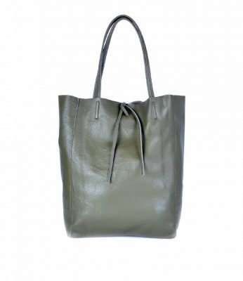 Leren-Shopper-Simple-groen groene-ruime-dames-shopper-zacht-leer-online-luxe-dames-tassen-italie-bestellen-557x600