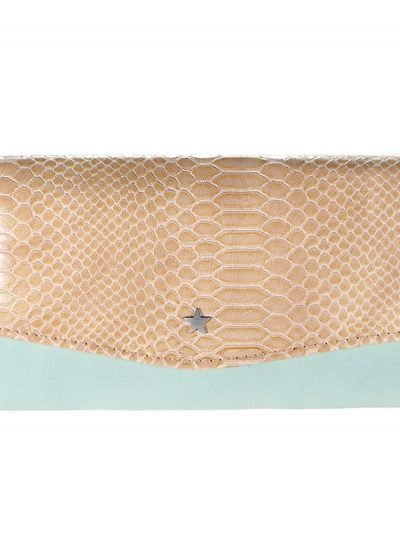 Portemonnee Golddigger mint groen Portemonnee-met-bruine snake leuke dames-Portemonnees-wallet-online-kopen-nu-