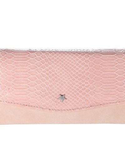 Portemonnee Golddigger roze pink Portemonnee-met-bruine snake slangenprint leuke dames-Portemonnees-wallet-online-kopen-nu-