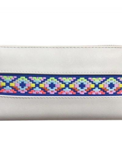 Portemonnee Neon Aztec creme taupe Portemonnee-met neon aztec print leuke goedkope dames-Portemonnees-wallet-online-kopen-nu-