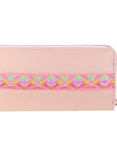 Portemonnee Neon Aztec roze pink Portemonnee-met neon aztec print leuke goedkope dames-Portemonnees-wallet-online-kopen-nu-