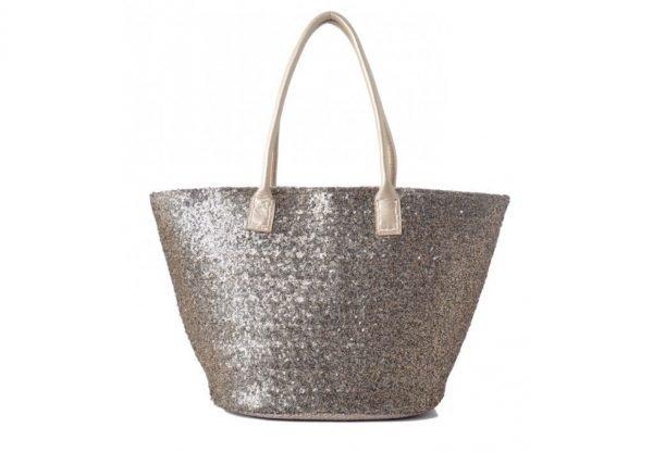 Shopper glitter goud gouden dames shopper met pailletten gouden hengsel musthave dames tassen online