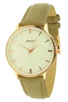 horloge-andrea fancy zand groen goud en kast musthave-pastel-kleuren-horloges-hippe-leuke-musthave-watches-online-kopen-ernest horloges