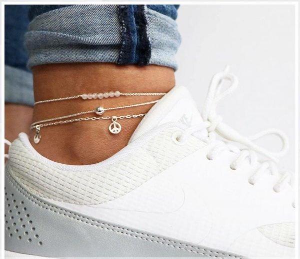 Enkelbandje 925 sterling merk ZOË silver zilver zilveren bandjes dames enkelbandjes online bestellen kopen
