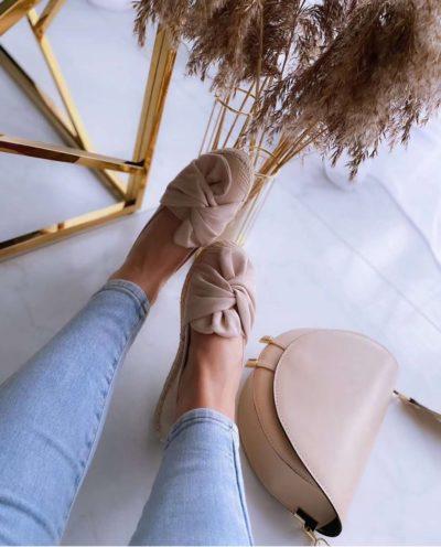 Espadrilles Knot beige nude espadrille dames schoenen instappers trendy schoenen online kopen bestellen instappers