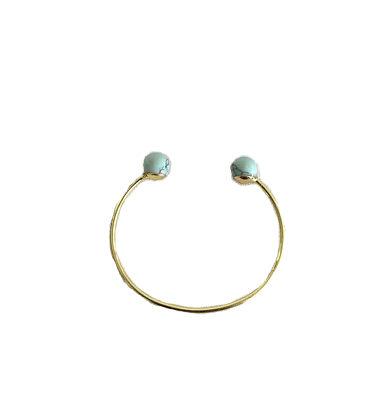 Gouden Armband Marble goud open dames armbanden marble bolletjes sieraden trendy accessoires kopen bestellen