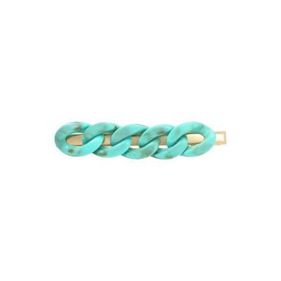 Haarclip Big Chain blauwe blauwe trendy haarpinnen haarclips haaraccessoires dames ketting trendy accessoires kopen