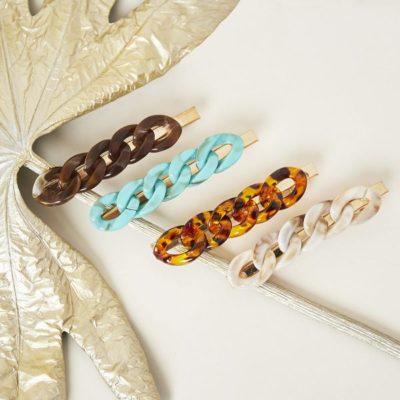 Haarclip Big Chain trendy haarpinnen haarclips haaraccessoires dames ketting resin trendy accessoires kopen