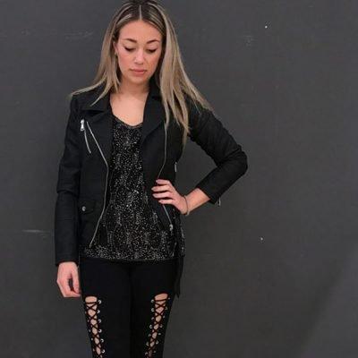 Legging lace up zwart zwarte veterlegging met veters voor open sexy leggings dames kleding online