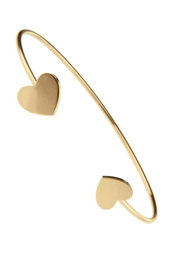 RVS Armband Sweetheart goud gouden open dames armband hartjes stainless steel goedkope dames accessoires online