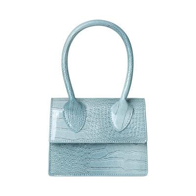 Tas Lolita Croco blauw blauwe pastel kleuren kleine dames handtasjes look a like tasje trendy tassen online kopen fashion bags