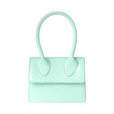 Tas Lolita Croco mint groen groene kleine dames handtasjes look a like tasje trendy tassen online kopen fashion bags