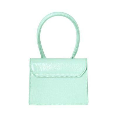 Tas Lolita Croco mint groen groene kleine dames handtasjes look a like tasje trendy tassen online kopen fashion bags achter