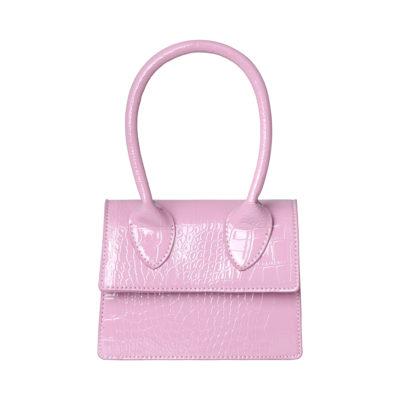 Tas Lolita Croco paars paarse pastel kleuren kleine dames handtasjes look a like tasje trendy tassen online kopen fashion bags