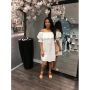 Witte Jurk Broderie open schouders off the shoulders wit dames jurk musthave zomer jurken online kopen