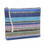 Clutch Stripes blauw blauwe goud kleurijke dames clutchtassen clutches hippe tassen online bestellen