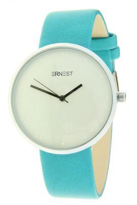 Horloge salvia turquoise mint ernest dames horloges zilveren kast accessoires fashion horloges online