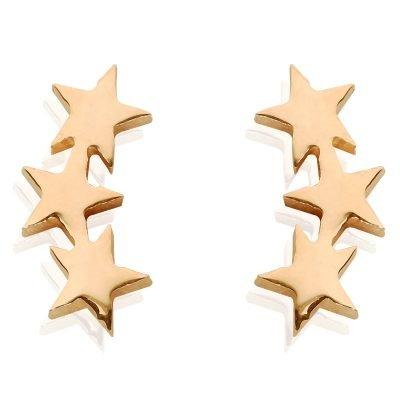 Oorbellen-star-line-oorknopjes goud gouden 3 sterren oorbel -musthave-accessoires-sieraden-online-kopen