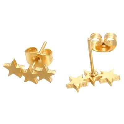 Oorbellen-star-line-oorknopjes goud gouden 3 sterren oorbel -musthave-accessoires-sieraden-online-kopen fashion