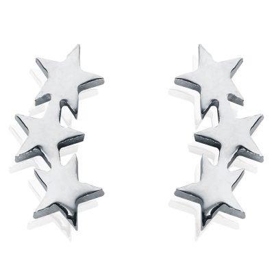 Oorbellen-star-line-oorknopjes-zilver zilveren 3 sterren oorbel -musthave-accessoires-sieraden-online-kopen