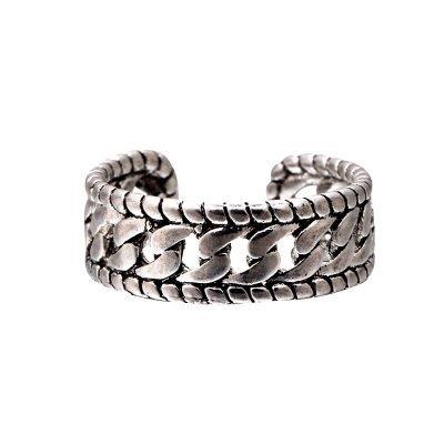 Zilveren Ring Art Chain zilver dames ringen kabels zilvere open achterkant accessoires rings online kopen goedkoop