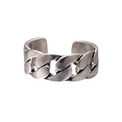 Zilveren Ring Symbol Braid zilver dames ringen kabels zilvere open achterkant accessoires rings online kopen goedkoop