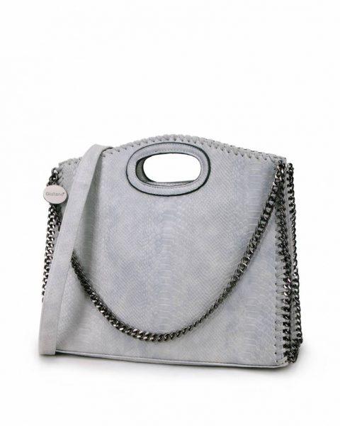 Handtas Croco-Stella-Chains-grijs-grijze-croco-kroko-print-tas-kettingen-musthave-it-bag-look-a-like-tas-met-kettingen-online-kopen-goedkoop-cheap werktassen laptoptas zijkant