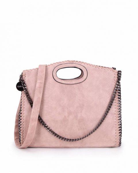 Handtas Croco-Stella-Chains roze pink croco-kroko-print-tas-kettingen-musthave-it-bag-look-a-like-tas-met-kettingen-online-kopen-goedkoop-cheap werktassen laptoptas