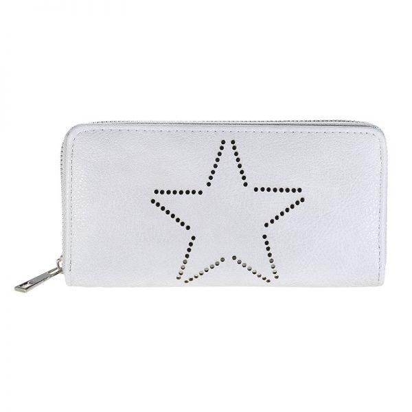 Portemonnee-Star-grijs grijze-dames-portemonees grote ster print steentjes-wallet-online-bestellen-kopen-musthave-accessoires