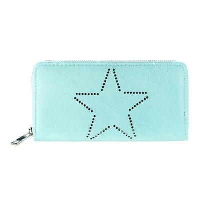 Portemonnee-Star-mint groen -dames-portemonees grote ster print steentjes-wallet-online-bestellen-kopen-musthave-accessoires