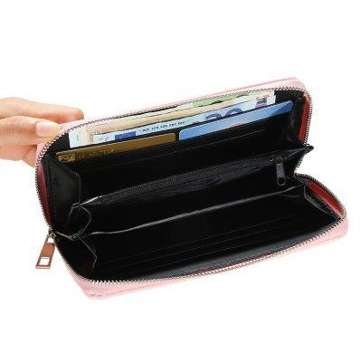 Portemonnee-Star-roze pink -dames-portemonees grote ster print steentjes-wallet-online-bestellen-kopen-musthave-accessoires online kopen