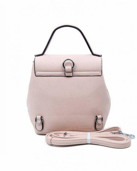 Rugtas Studs roze pink kunstleder rugzak zilveren studs kleine handige rugtassen rugzakken backpack online