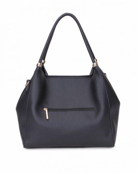 Tas Perfect Studs zwart zwarte grote kunstleder dames tassen itbags gouden studs luxe giulino bags goedkoop achterkant